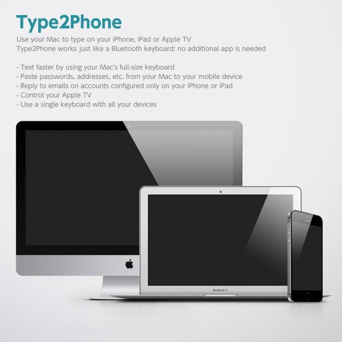 キーボードからiPhone/iPad、そしてAppleTV日本語入力には「Type2Phone」が便利!