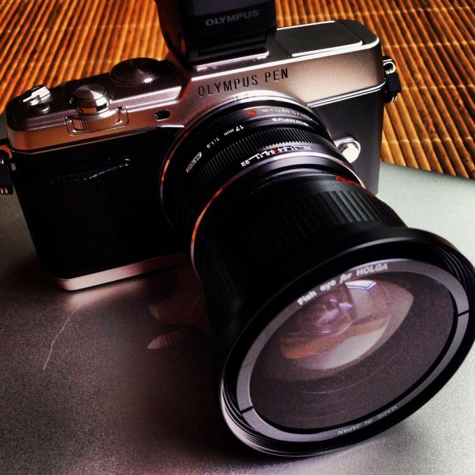 OLYMPUS PEN E-P5 トイカメラHOLGAの魚眼レンズ装着してみた