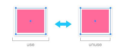 「プレビューの境界」の使用・不使用を切り替える